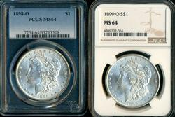 PCGS & NGC MS64 Morgans from 1898-O & 1899-O