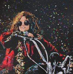 Kat America's Rock and Roll Artist Orignal Acrylic