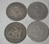 1853 1854 1857 &1876 Seated Quarters