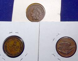 3  Civil War Store card   Tokens 2 Pittsburgh and one New York