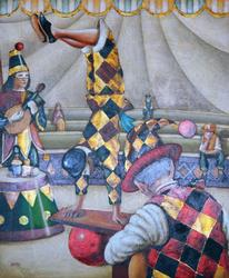 Edgar Barrios Original On Canvas