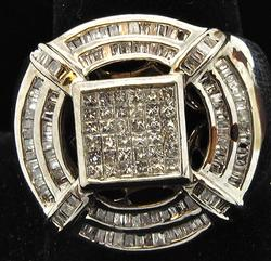 MEN'S DYNAMIC 1.5cttw DIAMOND RING, 14K