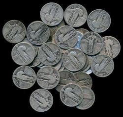 Great Lot of 50 Full Date Standing Liberty Quarters