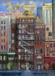 Detailed Alex Zwarenstein Original Oil on Canvas