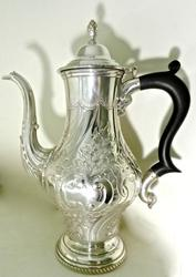 Beautifully Chased British Tea Pot