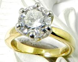 Extremely Fine 1.61ct Round Diamond Solitaire, 18k