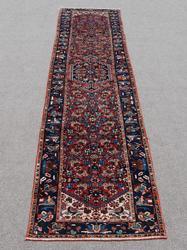 Lustrous Handmade 3.7 X 16.5 feet Persian Zanjan Runner