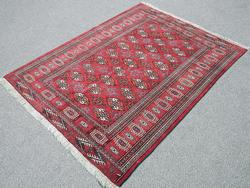 Hand Made Turkmen Rug, 4.7 X 6.0 feet