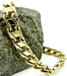 Over 35 grams 14kt Gold Bracelet, Railroad Track Links
