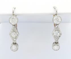 Intricate 1.06CTW Vintage Diamond Earrings