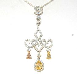 Chandelier 18kt Yellow & White Diamond Necklace