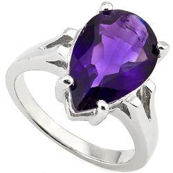 7.25ctw Amethyst Sterling Ring