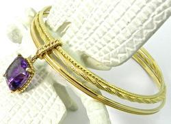 Nice group of 3 18kt Gold Bracelets, Vera Wang
