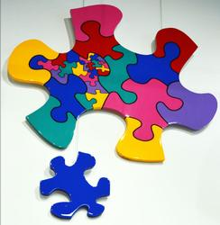 Lenore Robins Original Acrylic and Resin Famous Puzzle