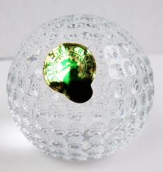 Waterford Crystal Golf Ball Paperweight w/Box