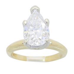 IGI Certified 2.11CT Pear Cut Diamond Ring