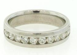 Gents Diamond Channel Set Band