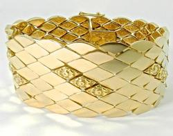 Phenomenal 18kt Gold Wide & Heavy Bracelet