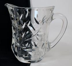 Gorgeous Crystal Pitcher With Leaves Pattern