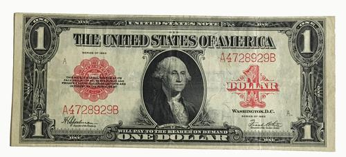 $1 US Note Red Seal 1922 Large Size Speelman White
