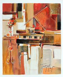 Yuri Tremler Limited Serigraph Piano