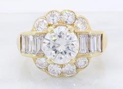 Top Quality VVS Quality 2.20CTW Diamond Ring