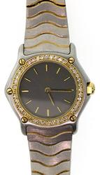 Ladies Ebel Classic Wave with Diamonds in 18K/SS