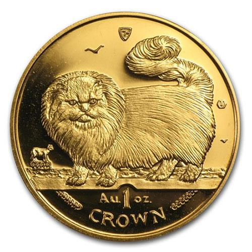 1997 Isle of Mann 1oz Fine Gold Cat