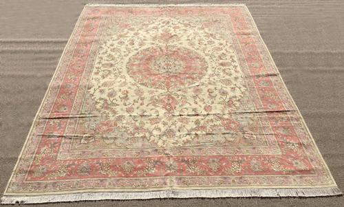 Absolutely Enchanting Fine Persian Tabriz with Silk Highlights 13x10