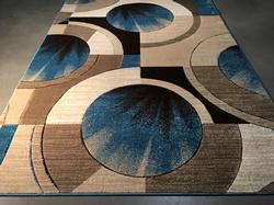Carved Vivid Modern Design Area Rug 6x8