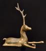 Set of Two Vintage Large Brass Reindeer Sculptures