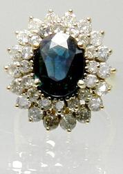 Classic Sapphire & Diamond Ring