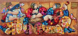 Dorit Levi Ethnic Music Players Canvas
