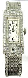 Over 2ctw Of Diamonds In This Platinum Watch