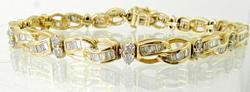 Tasteful 14K 2+CTW Diamond Bracelet