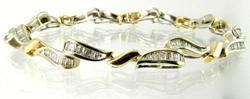 128 Baguette Diamond Bracelet, 14k