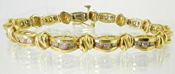 Beautiful 14K Diamond Bracelet