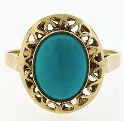 Turquoise and 18K Ring