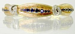 Unique Vintage Sapphire & Diamond Bangle