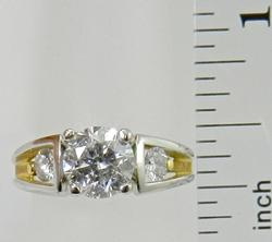Platinum & 18K Gold Engagement Ring