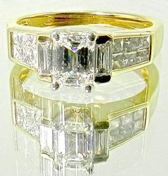Stylish Emerald Cut Diamond Engagement Ring