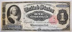 1891 Series  Martha Washington $1 Silver Certificate
