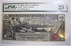 $1 1896 Educational Silver Certificate VF 25 PMG