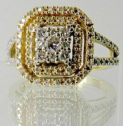 Delightful Modern Diamond Cluster Ring