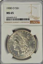 Stunning Gem BU 1900-O Morgan Silver Dollar. NGC MS65
