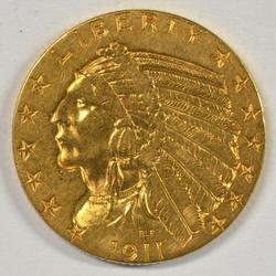 Very lovely 1911-P US $5 Indian Gold Piece