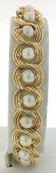 Vintage Style Pearl Station Bracelet