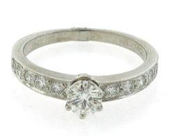 Tiffany & Co VVS Diamond Ring in Platinum
