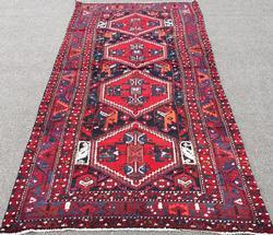 Charming & Collectible Authentic Vintage Persian Yaghoub-Khani Baluchi Rug