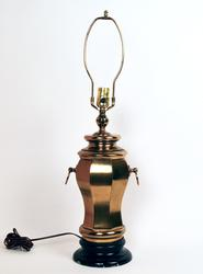 Vintage Speer 3 Way Brass Table Lamp, Working Condition